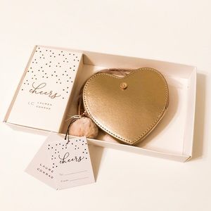 Lauren Conrad Heart Wristlet Coin Purse Rose Gold